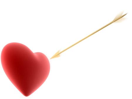 radiosity: red hearts with arrow