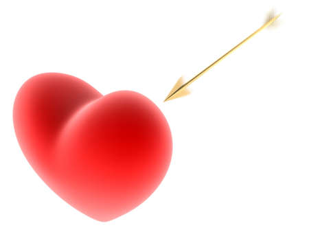 red heart with arrow photo