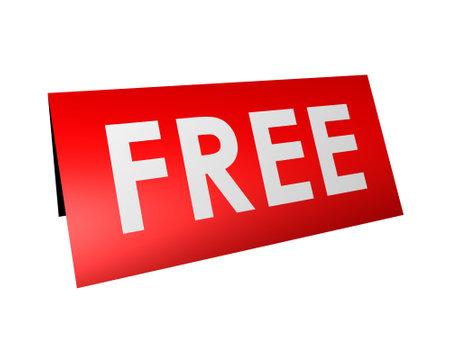 bargaining: free sign Stock Photo