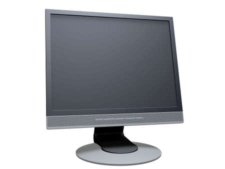 telly: flat display Stock Photo