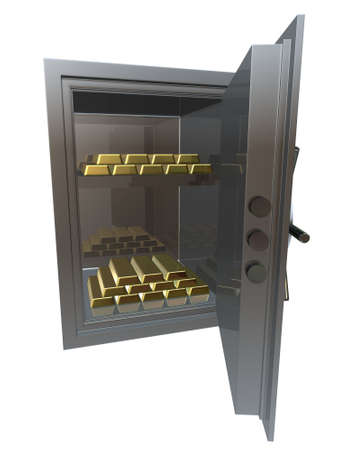 vault with gold Stock Photo - 659949