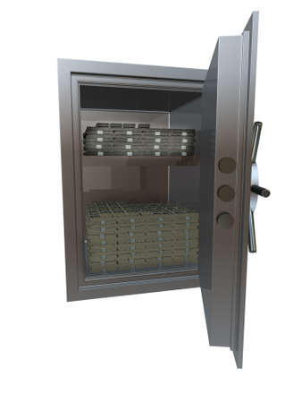 vault with money photo