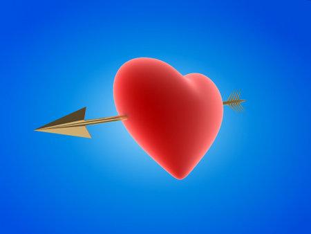 heartbreaker: coraz�n con la flecha Foto de archivo