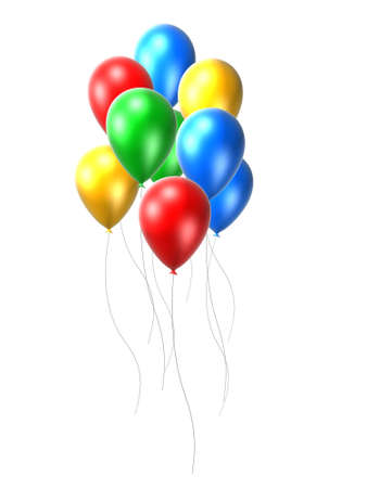 inflate: coloured balloon Stock Photo