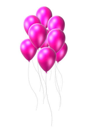 string together: pink balloon