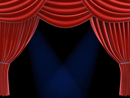 red curtain Stock Photo - 660250