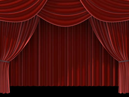red theatre curtain Stock Photo - 705258