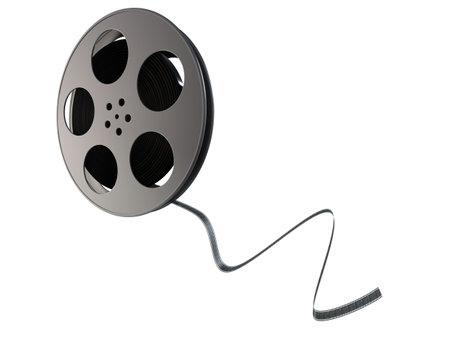 carrete de cine: bobina de pel�cula