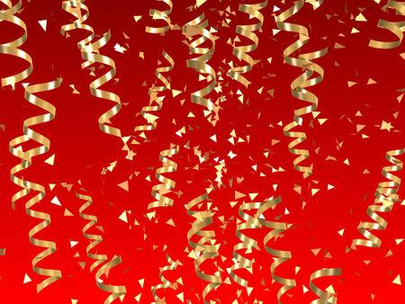 revoltijo: cintas de oro Foto de archivo