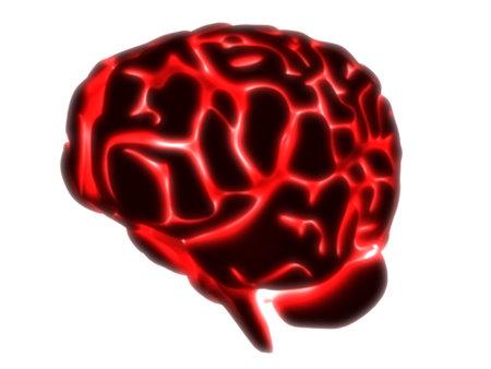 subconscious:  glowing brain