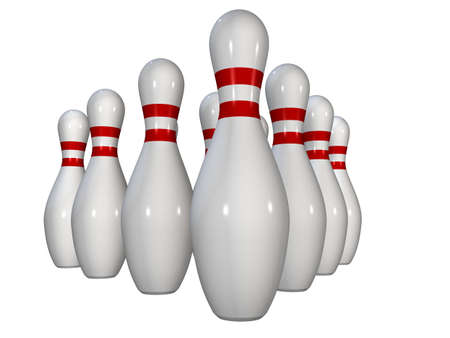 wholesome: bowlind pin Stock Photo