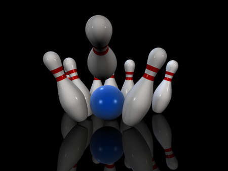 wholesome: bowling Stock Photo