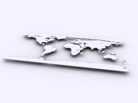 worldmap: silver worldmap