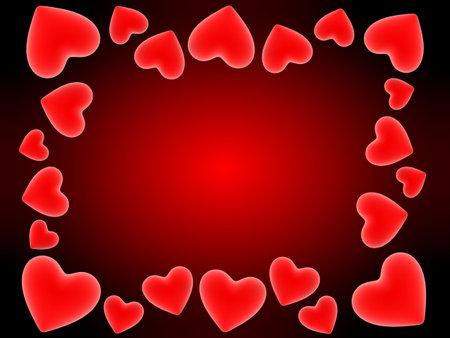 radiosity: red hearts