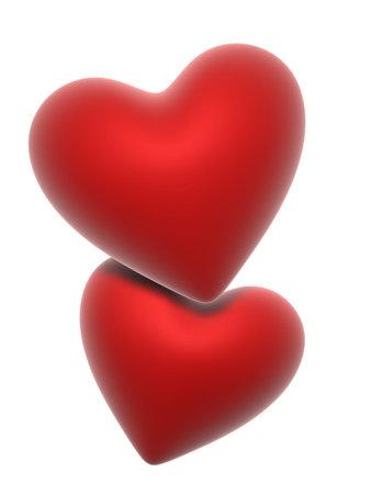 corazones rojos Foto de archivo - 748890