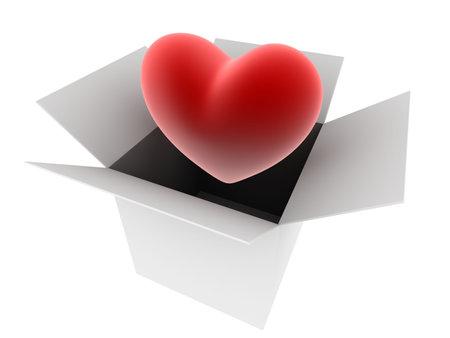 radiosity: heart in a box
