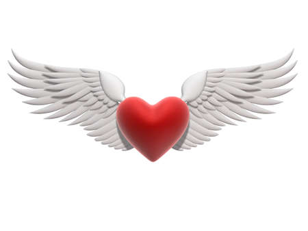 heart and wings: flying heart