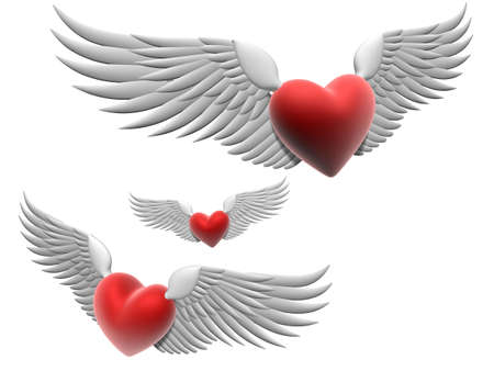 flying hearts Stock Photo - 748879