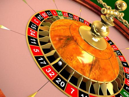 croupier: roulette wheel Stock Photo