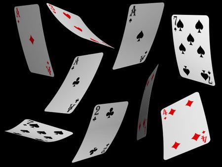 Cartas de poker  Foto de archivo - 748576
