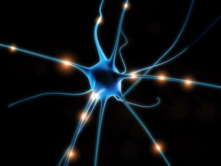 zenuwcel: zenuw cel Stockfoto