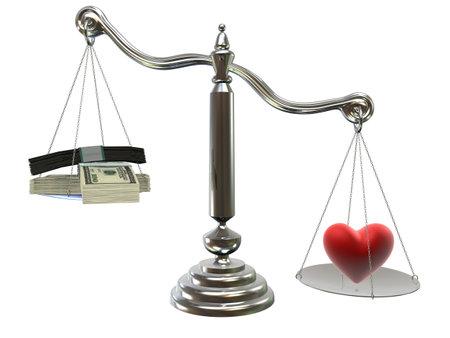 justice balance: love or money