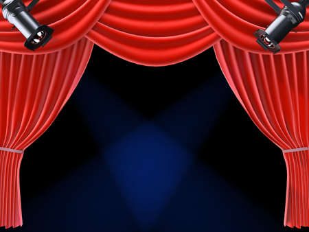 red curtain  Stock Photo - 824450