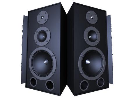 eq: big speakers Stock Photo
