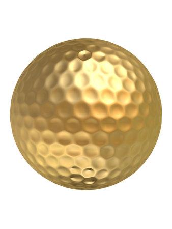 golden ball: golden golf ball