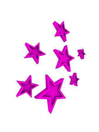 pink stars Stock fotó