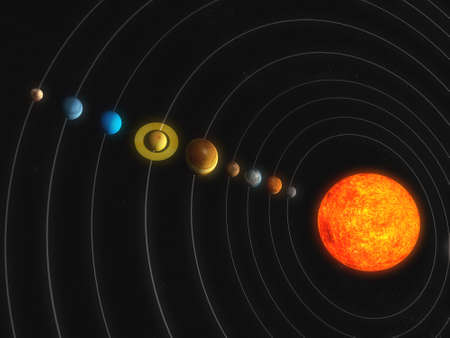 solar system: solar system Stock Photo