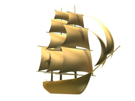 fishing ship: golden ship