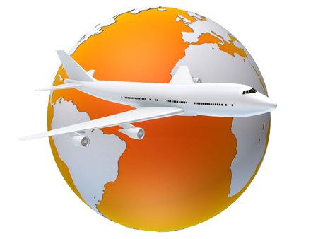 transmit: global flying Stock Photo