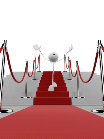 little character on a red carpet Stock Photo - 1015776