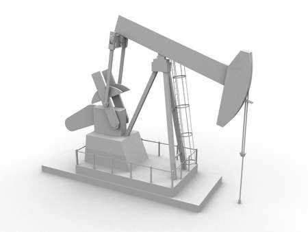 oilwell: oil pump Stock Photo
