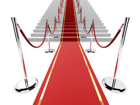 red carpet on stairs Stock Photo - 1066799