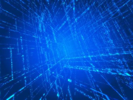 parallel world: blue matrix Stock Photo