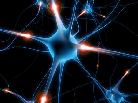 actieve neurone  Stockfoto