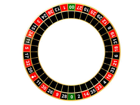 rueda de la fortuna: ruleta los n�meros  Foto de archivo