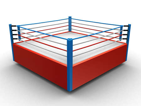 fight arena: boxing ring