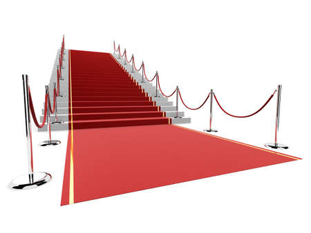 red carpet: red carpet on stairs