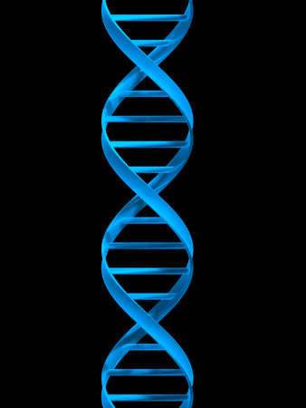 genomes: blue double helix