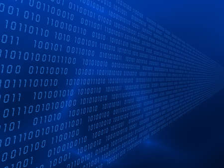 parallel world: binary code Stock Photo