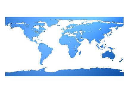 terra: 3d world map