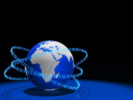 hightech: 3d globe