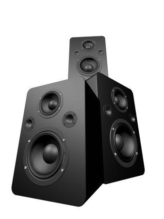 sub woofer: black speakers