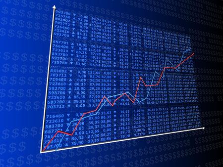 rising stock statistic Stock Photo - 1354718