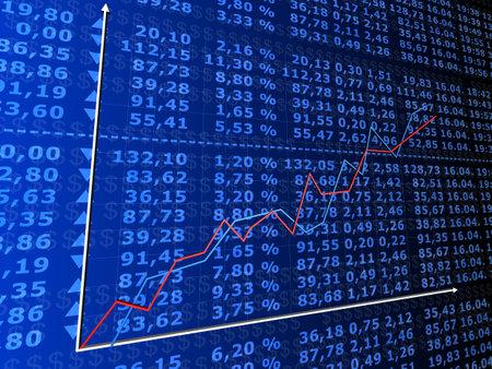 rising stock statistic Stock Photo - 1354722
