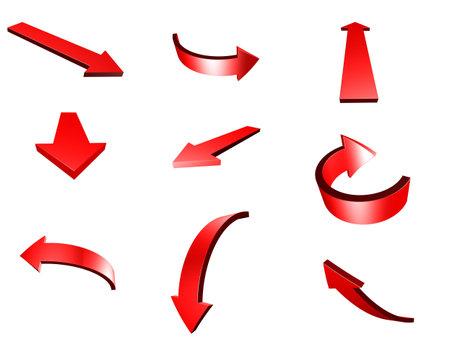 3d: 3d arrows Stock Photo