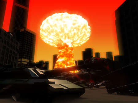nuclear bomb: armageddon Stock Photo